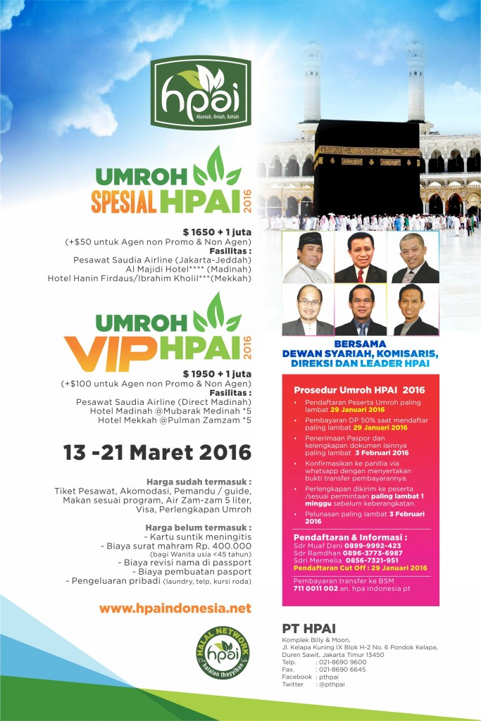 Poster Umroh HPAI 2016 vip